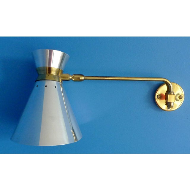 Pierre Guariche Style Adjustable Wall Scones - A Pair - Image 3 of 9