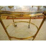 Image of Brass And Glass 1940's Bar Cart