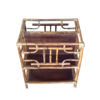 Vintage Boho Chic Bamboo Magazine Holder