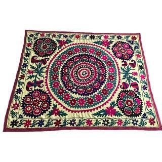 Antique Yellow Suzani Textile