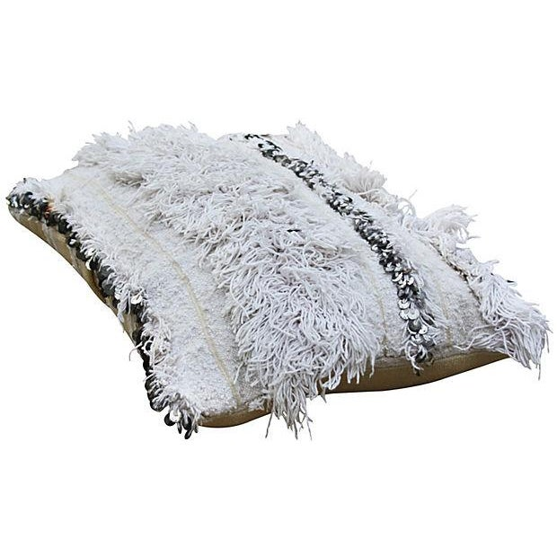 Moroccan Berber Wedding Sham with Sequins - Image 2 of 3