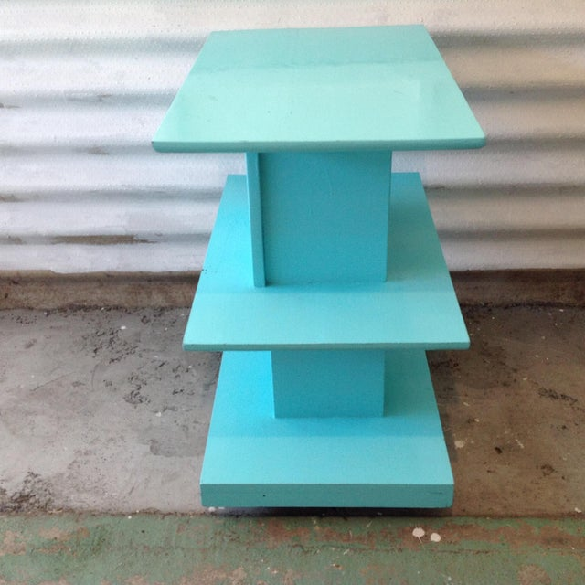 Mid-Century High Gloss Chalk Painted Cart - Image 5 of 11