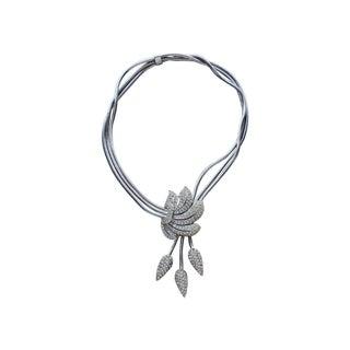 60s Rhinestone Drop Necklace