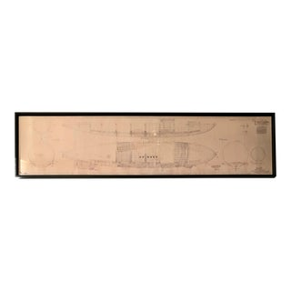 Vintage U.S. Navy Airship Blueprint