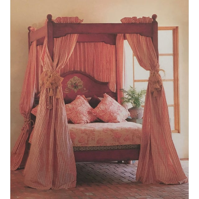 Farmhouse Collection Queen Size Canopy Bed Frame - Image 7 of 7