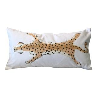 Dana Gibson Cream Leopard Lumbar Pillow
