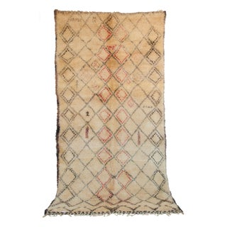 "Vintage Moroccan Beni Ourain Berber Rug - 6'4"" x 12'2"""