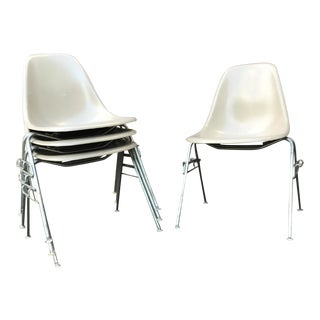 Vintage Eames Fiberglass Stackable Chairs - Set of 8
