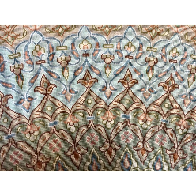 Finely Knotted Silk Qom Carpet - 7′10″ × 11′4″ - Image 6 of 8
