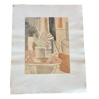 "Fernand Leger ""Still Life at the Newspaper"" Lithograph"