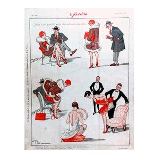 Pem 1926 Le Sourire Comic Strip Print