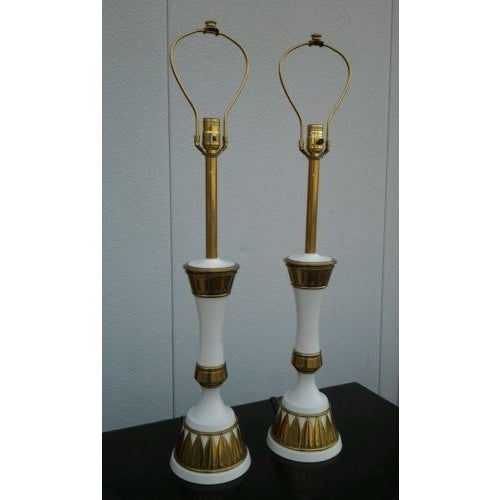 1960s Modern Stiffel Table Lamps - A Pair - Image 4 of 8