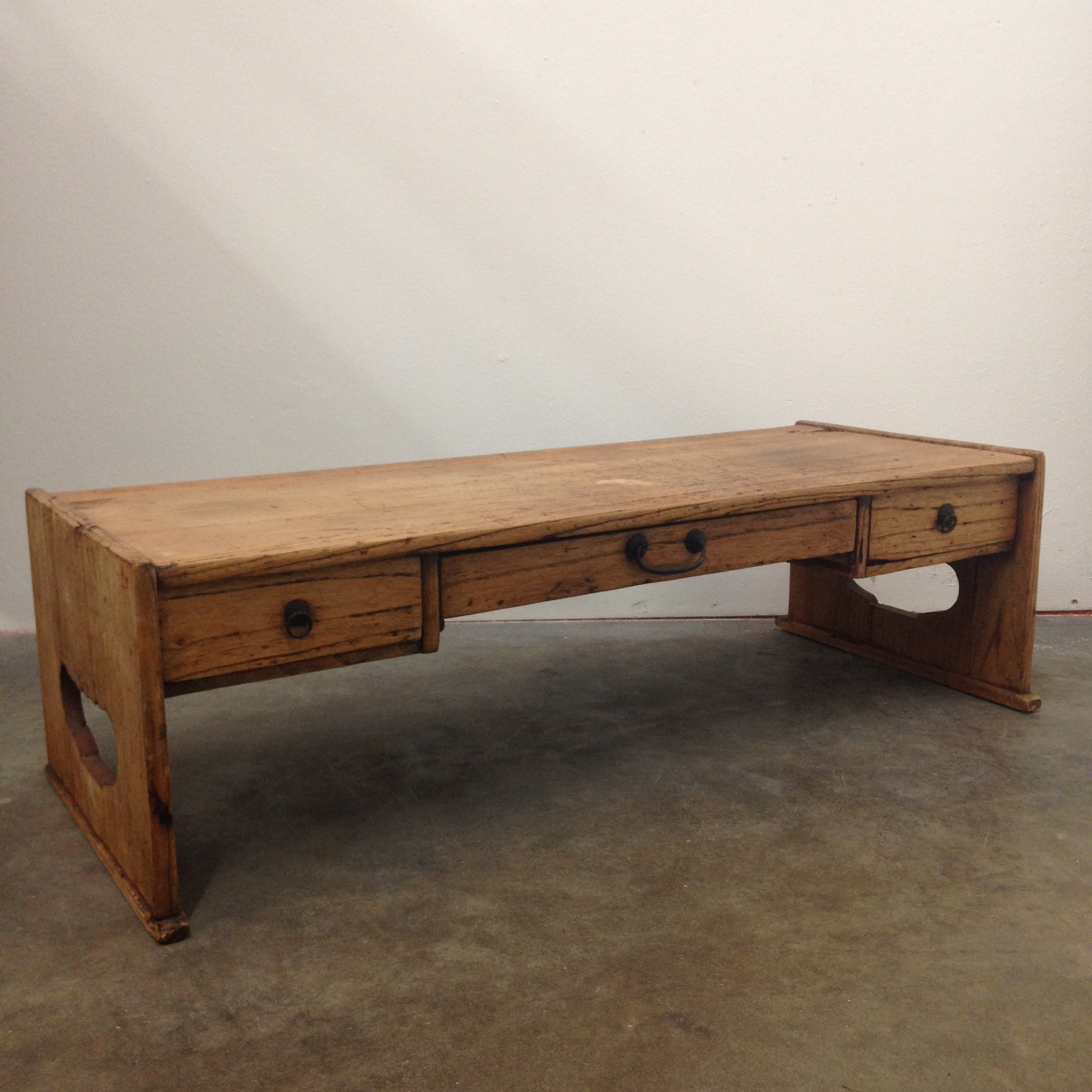Early 1900s Japanese Low Desk Writing Table   Image 2 Of 11