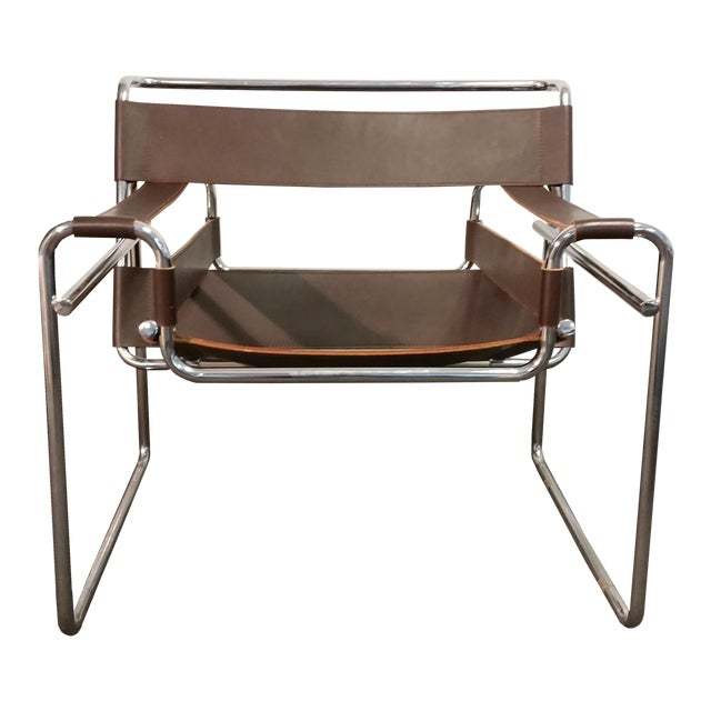 mid century vintage wassily chair by marcel breuer chairish. Black Bedroom Furniture Sets. Home Design Ideas