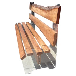 Free Edge Wood and Lucite Bench