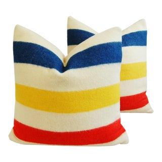Custom Hudson's Bay Camp Down Pillows - A Pair