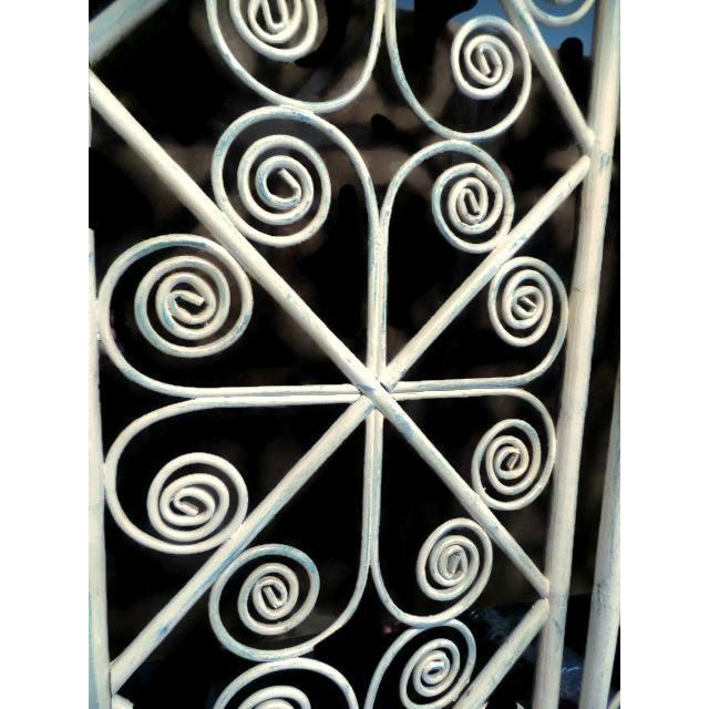 Vintage Bamboo Peacock Scroll Swinging Doors - Image 6 of 7