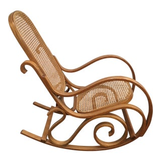 Thonet Style Bentwood Cane Style Rocking Chair