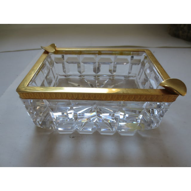 Baccarat French Cut Glass & Gilt Ash Tray - Image 2 of 5