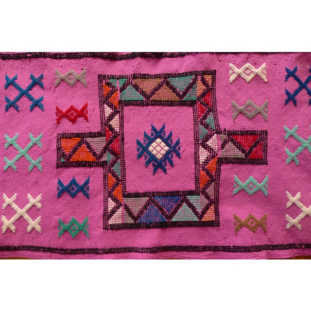 MoroccanTribal Motif Small Pink Rug - 1′6″ × 3′ - Image 5 of 8