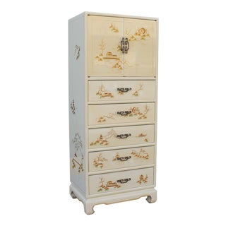 Asian Style Mid Century Modern Lingerie & Jewelry Chest