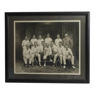Antique Photo of the Junior Tennis Players