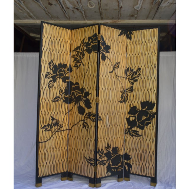 1960s Japanese 4 Panel Screen - Image 2 of 8