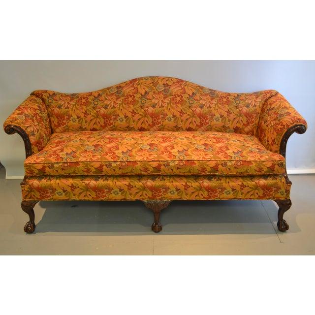 Upholstered Camelback Sofa - Image 2 of 3