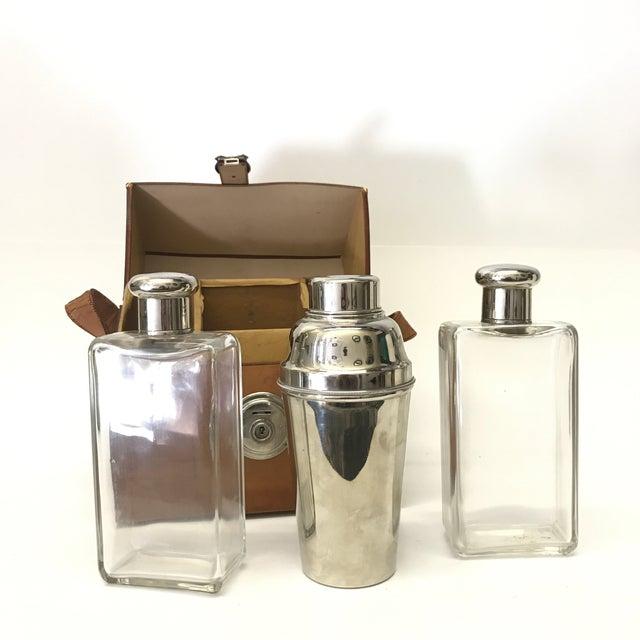 German Flask & Shaker Set Leather Case - Image 4 of 7