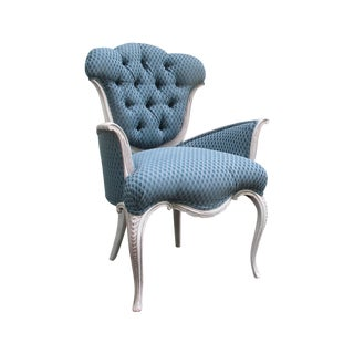 Louis Blue Accent Chair, Upholstered Armchair