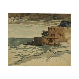 Signed Watercolor Listed Us Artist 1931