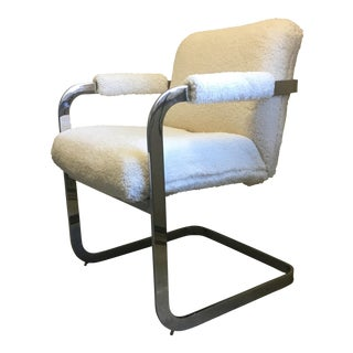 Chrome Cantilever Sherpa Chair
