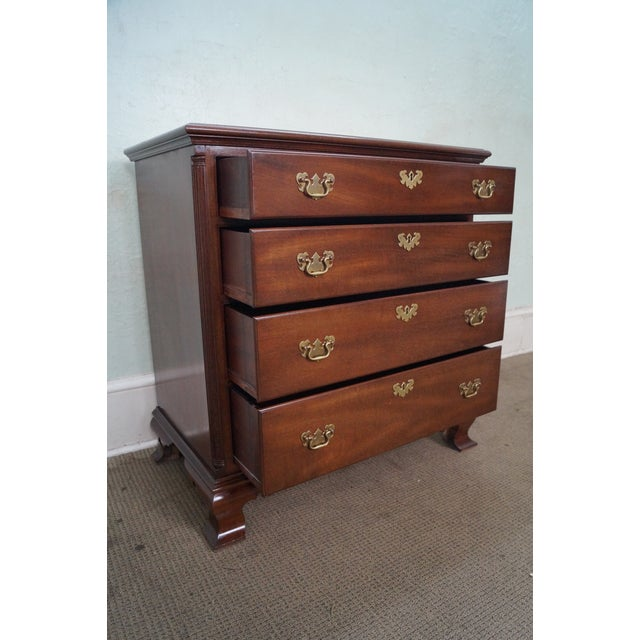 Kittinger Old Dominion Mahogany Chippendale Style Chest of Drawers Chest - Image 5 of 10