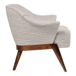 Mid-Century Modern Stingray Armchair in Embossed Woven Wool