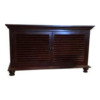 Noir Caribbean-Colonial Mahogany Two Door Shutter Cabinet
