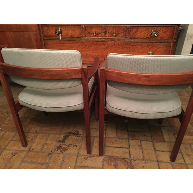 Image of Danish Modern Armchairs - A Pair