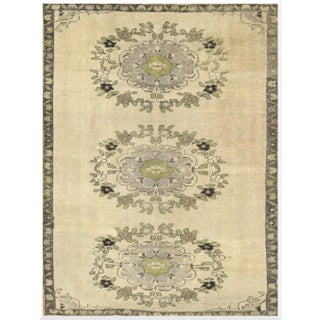 Small Vintage Hand-Knotted Rug - 4′3″ × 5′8″