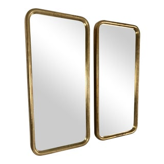 Vintage Gilded Art Deco Mirrors - A Pair