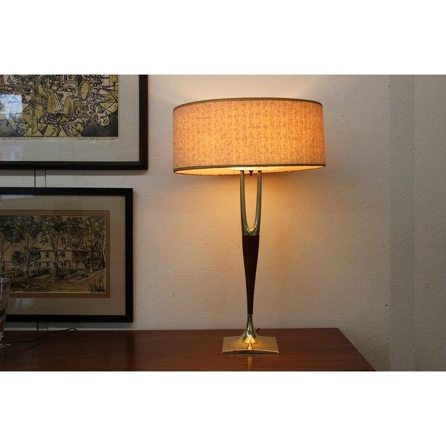 Mid-Century Modern Laurel Wishbone Lamp - Image 2 of 9