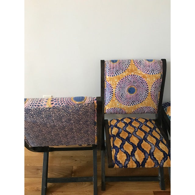 Anthropologie Terai Folding Chairs - Set of 4 - Image 4 of 5