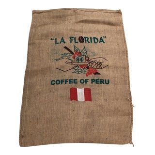 Peru Jute Coffee Bag Wall Hanging