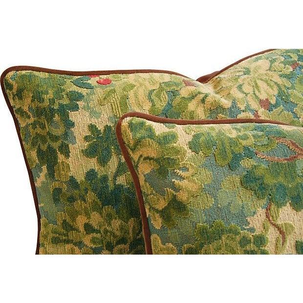 Designer Scalamandre Velvet Marly Pillows - A Pair - Image 2 of 7