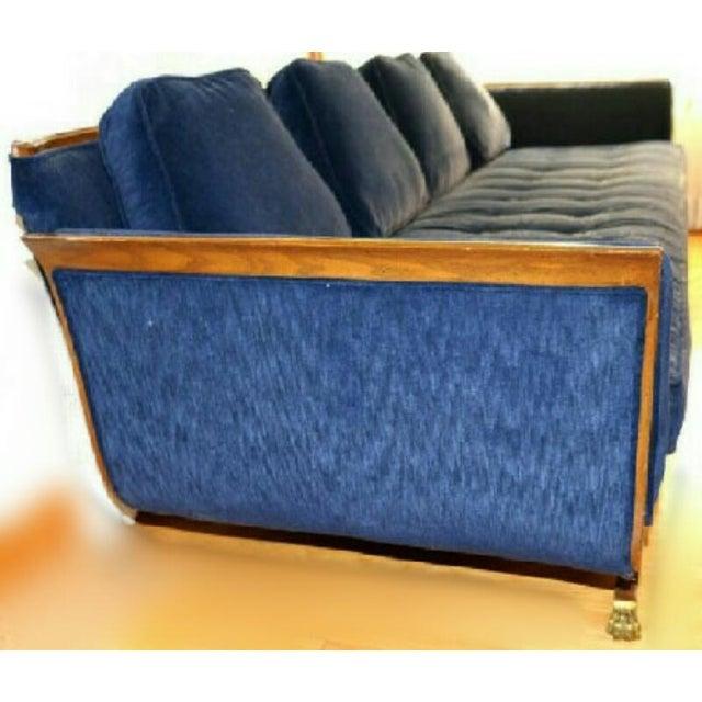 Mid-Century Modern Navy Blue Sofa - Image 3 of 6