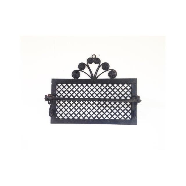 Image of Vintage Cast Iron Quatrefoil Towel Holder