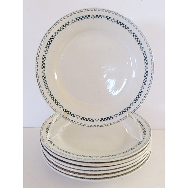 Image of French Gien Plates - Set of 7