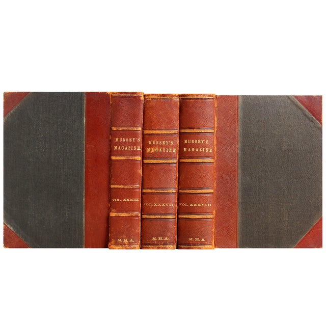 Image of Antique Leather Books - Set of 3