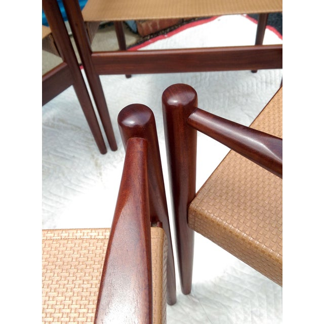 Rosewood Sling Chairs - Set of 4 - Image 8 of 8
