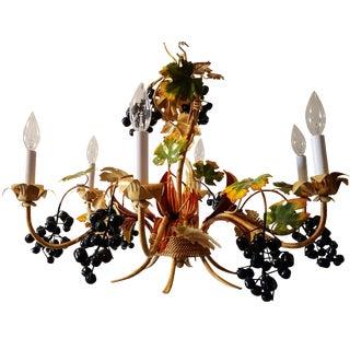 Grape Vine Tole Chandelier