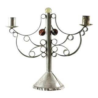 Mexican Tin Candle Holder
