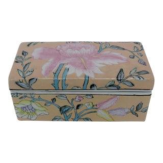 Chinese Porcelain Lotus Box
